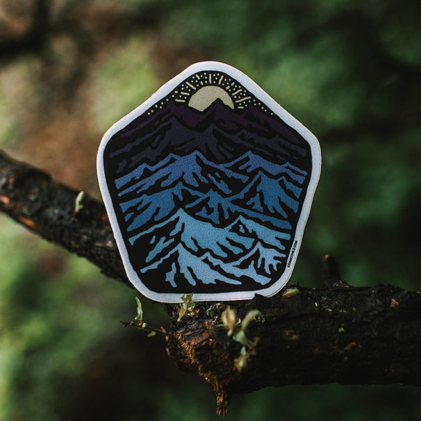 Gradient Mountains Sticker