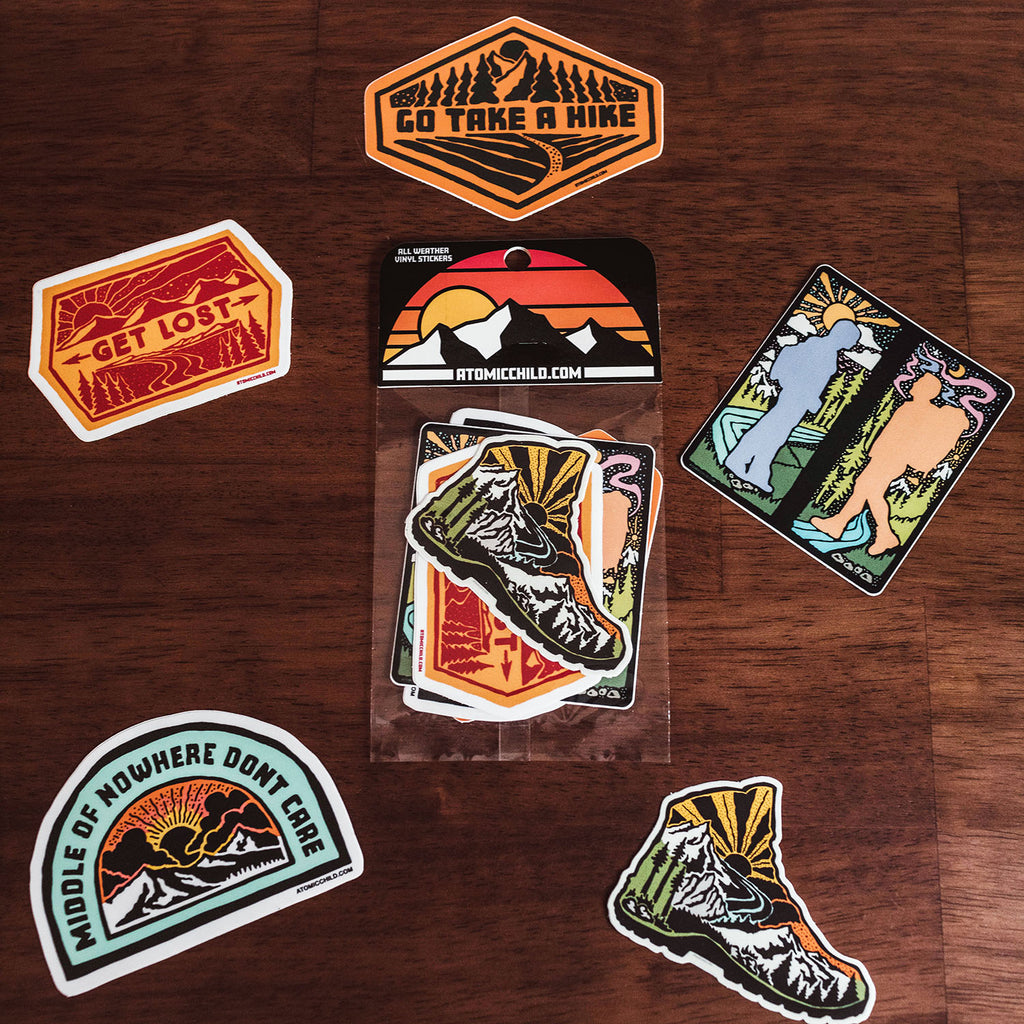 Hiking Sticker Pack