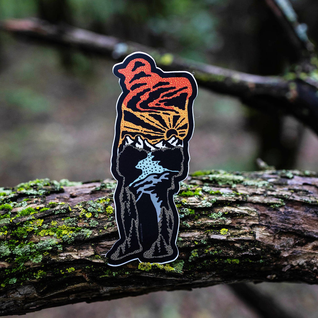 Hiker Sticker