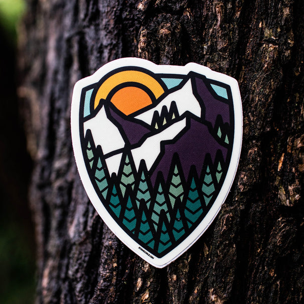 Mountain Shield Sticker