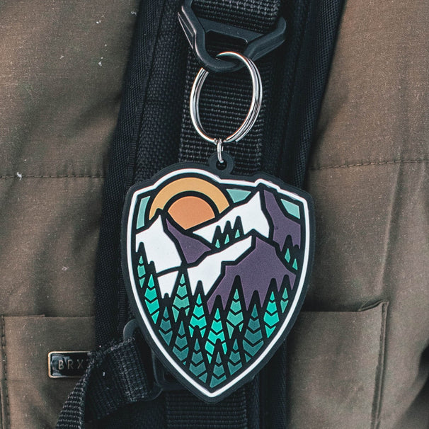 Mountain Shield Keychain