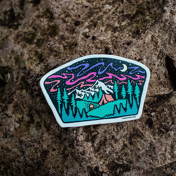 Midnight Campsite Sticker