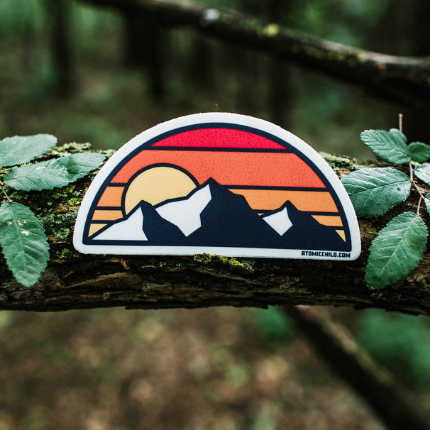 Half Circle Mountains Sticker