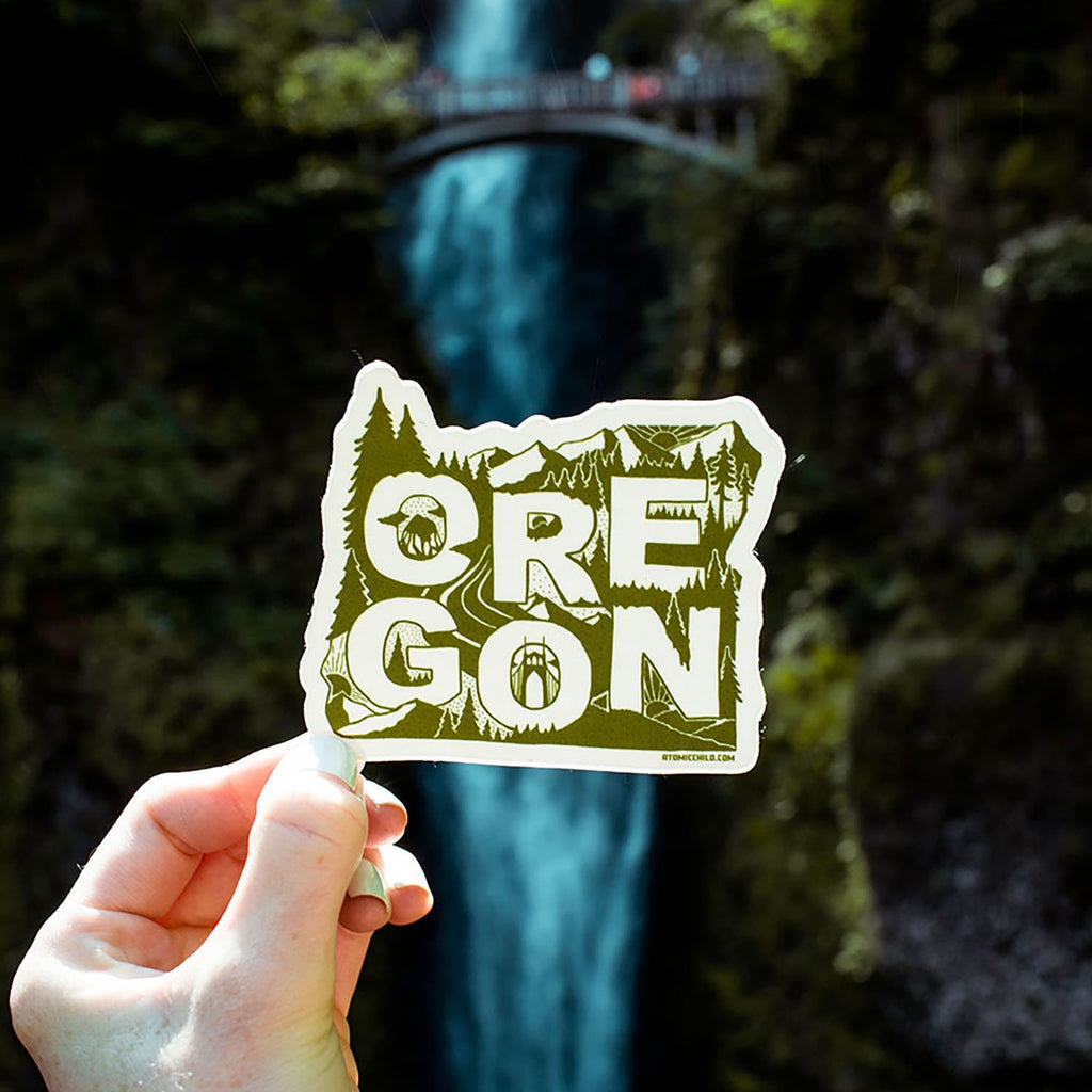 Oregon 1 Color Sticker