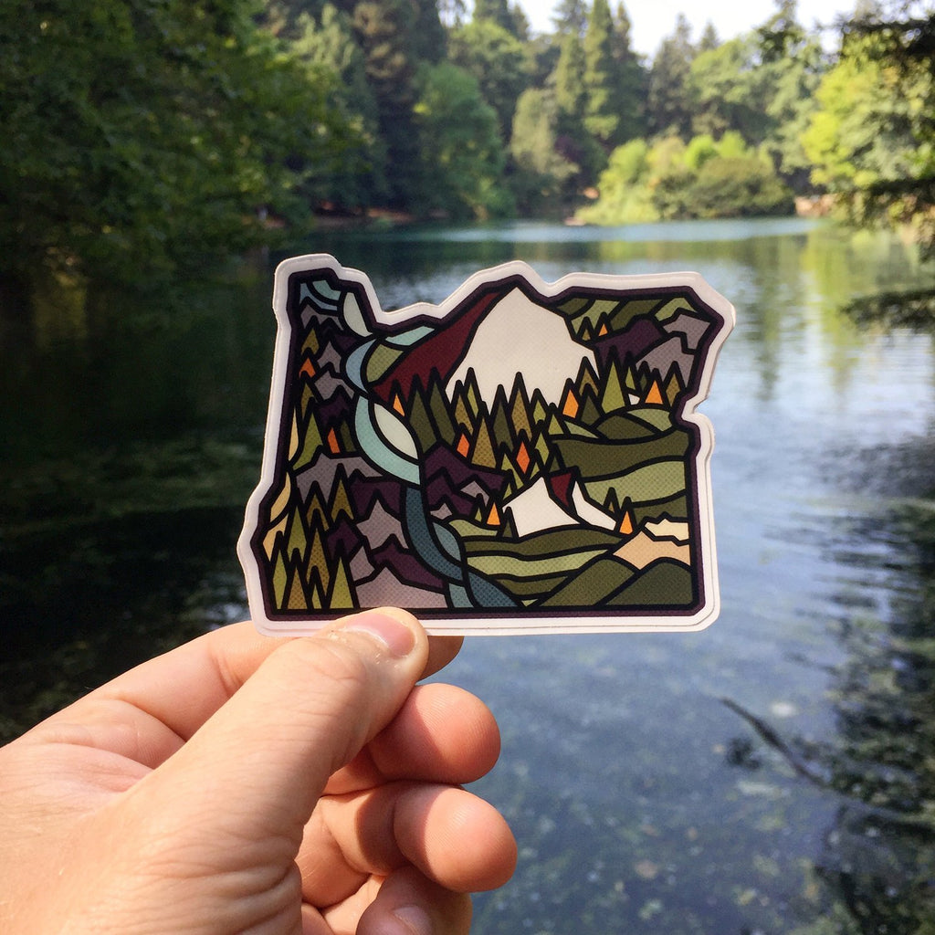 Oregon Multi Color Sticker