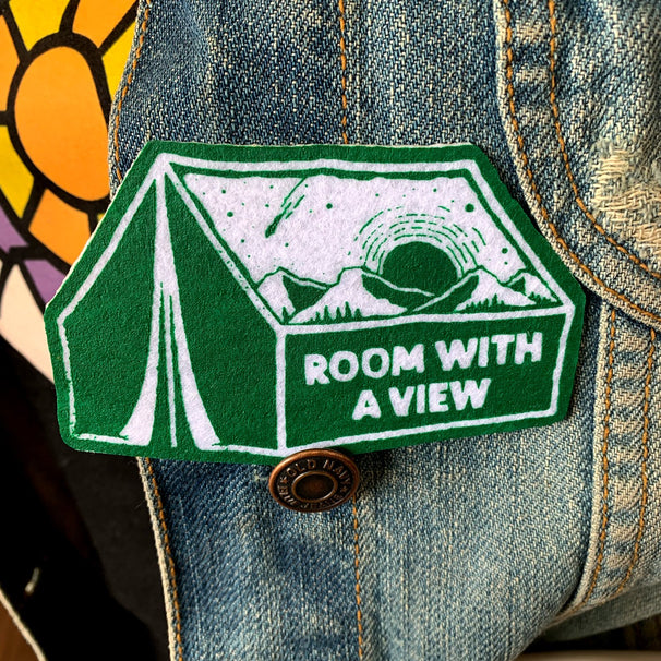 Room w/ a View Felt Patch