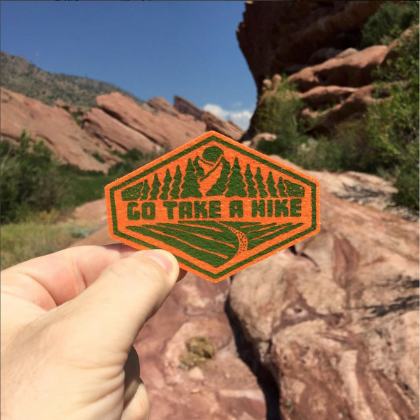 Go Take a Hike Felt Patch