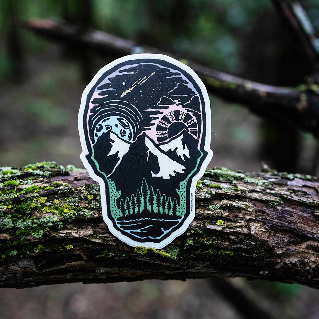 Skull Landscape Color Sticker