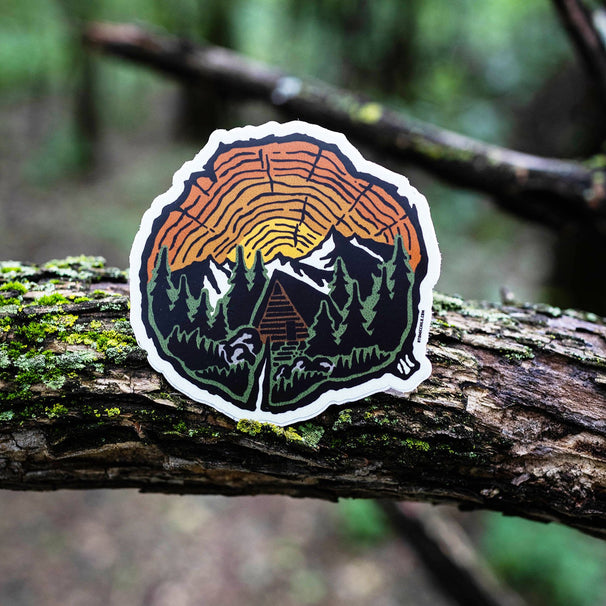 Tree Rings Sunset Sticker
