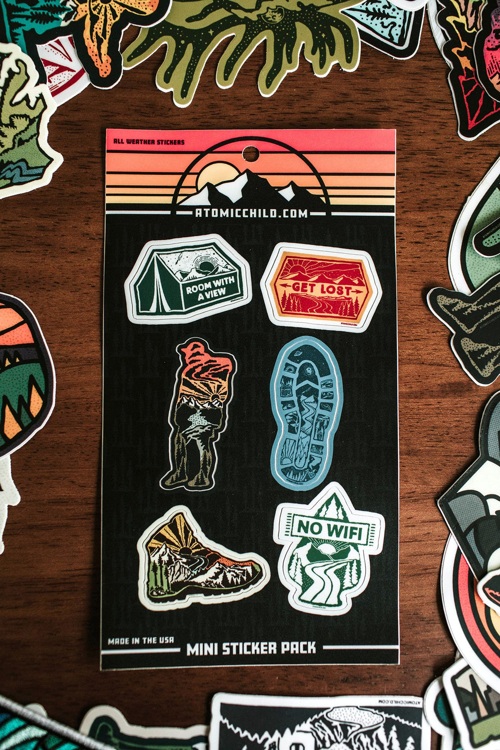 Hiking Mini Sticker Sheet