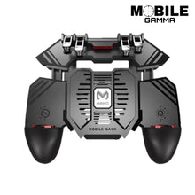 Load image into Gallery viewer, mobile gaming controller with 4000 mah battery and cooling fan equipped with four triggers for 6 finger gaming great for COD mobile, PUBG, FORTNITE and the forever evolving mobile gaming world