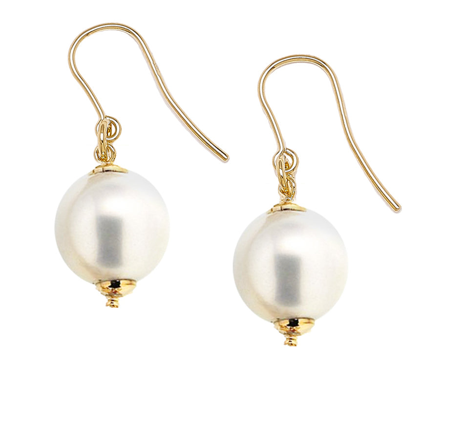 Forever Last 18k Gold Plated Women's Pearl Drop Earrings