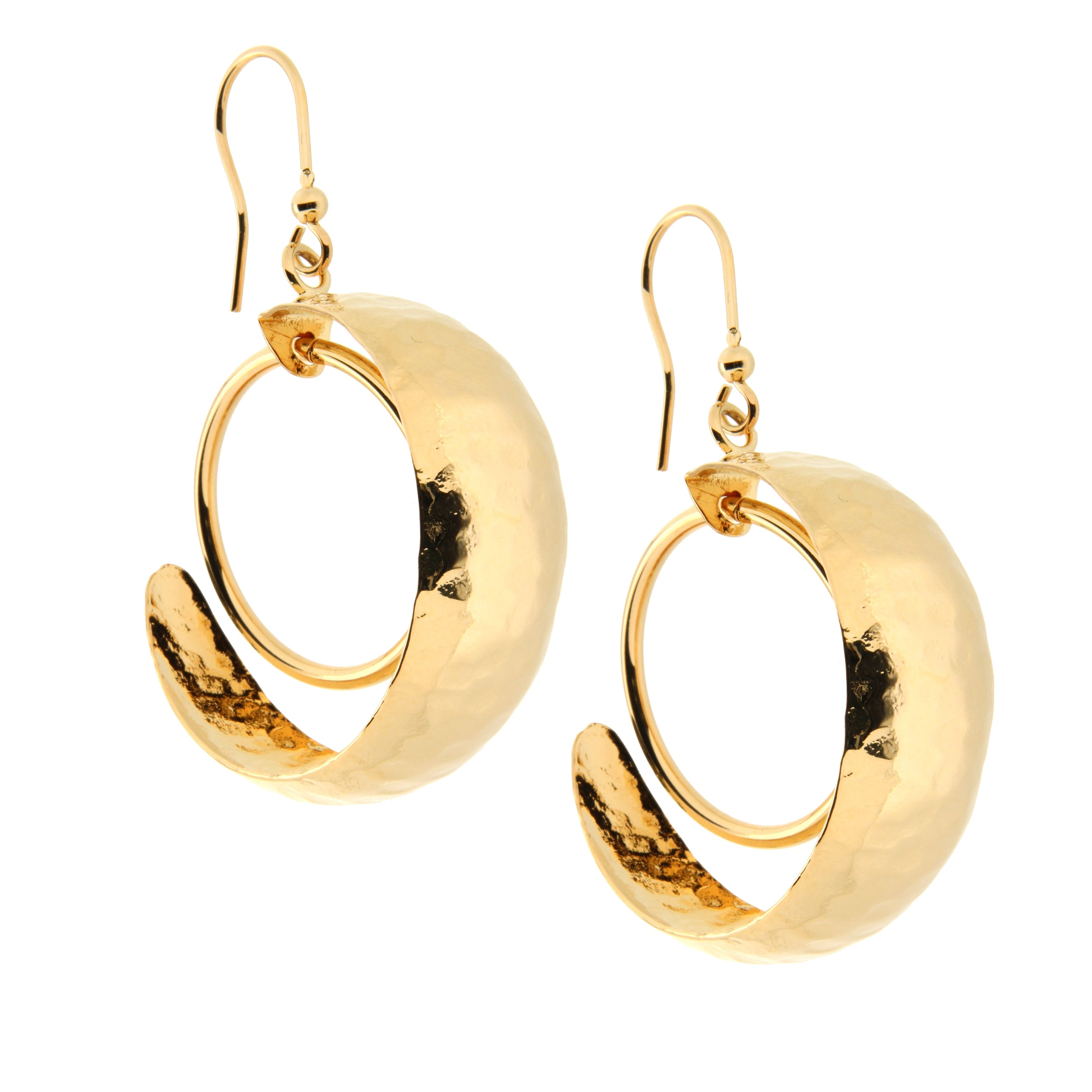 Forever Last 18k Gold Plated Women's Drop With Loop Earrings