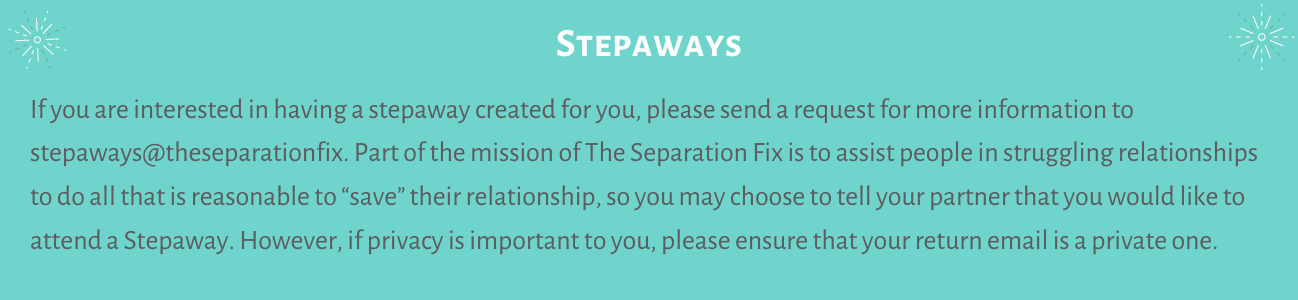Stepaways Byron Bay retreats custom made for you and your support network friends separation