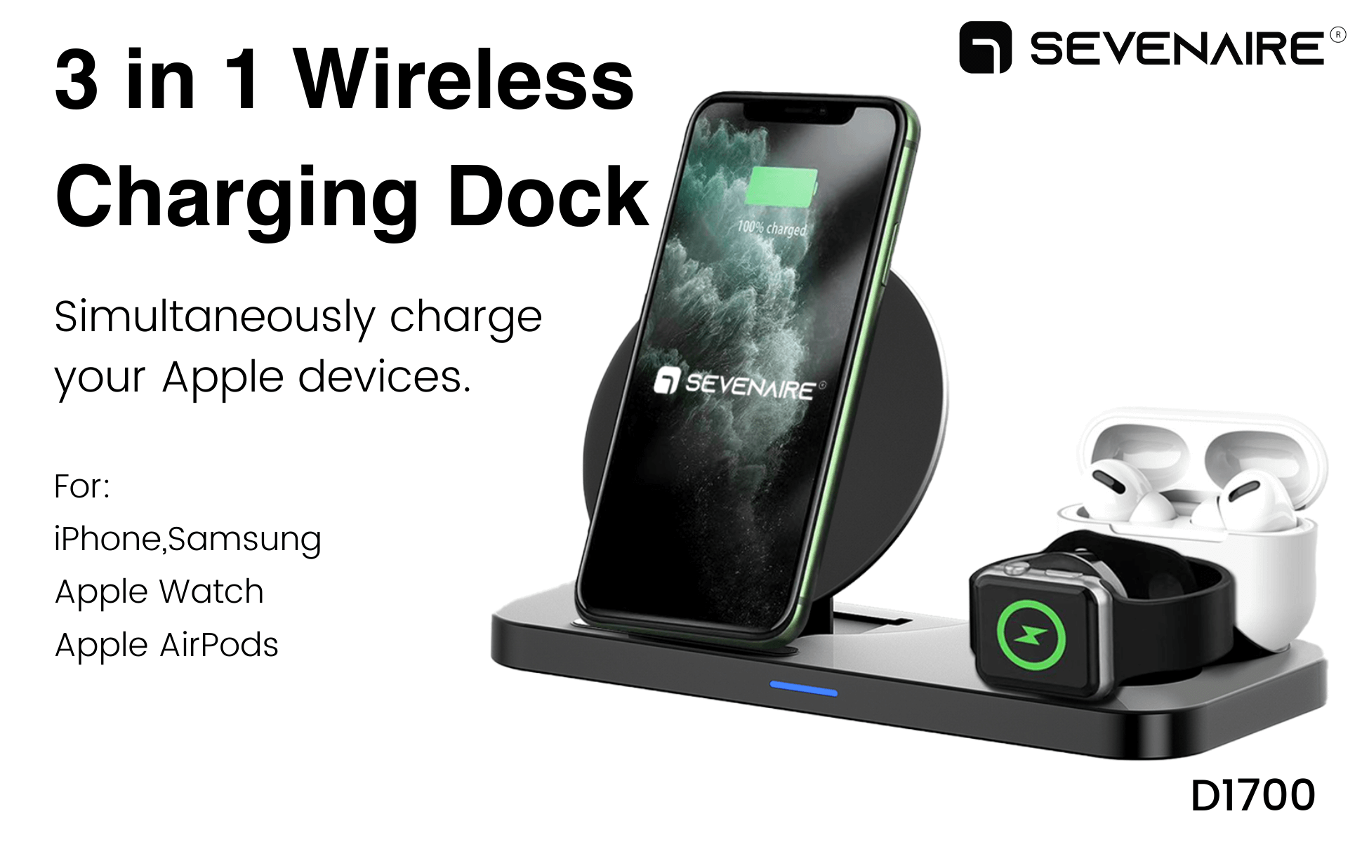 3 in 1 wireless charger for iphone