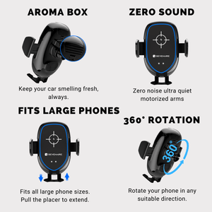 SMAR7 Phone Holder with Fast Wireless Charging