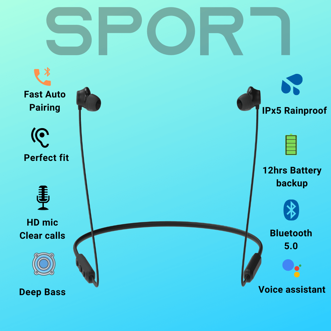 SPOR7 Wireless Neckband Earphones