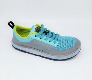 Astral Brewess Turquoise Grey Womens Vegan Water Friendly Siped Outsole Sneakers