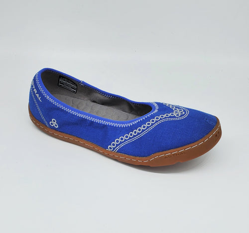 Astral Maria Ballet Flat Womens Casual Sneakers Hemp Cobalt Blue
