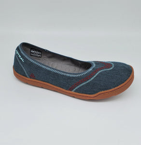 Astral Maria Ballet Flat Womens Casual Sneakers Hemp Denim Blue