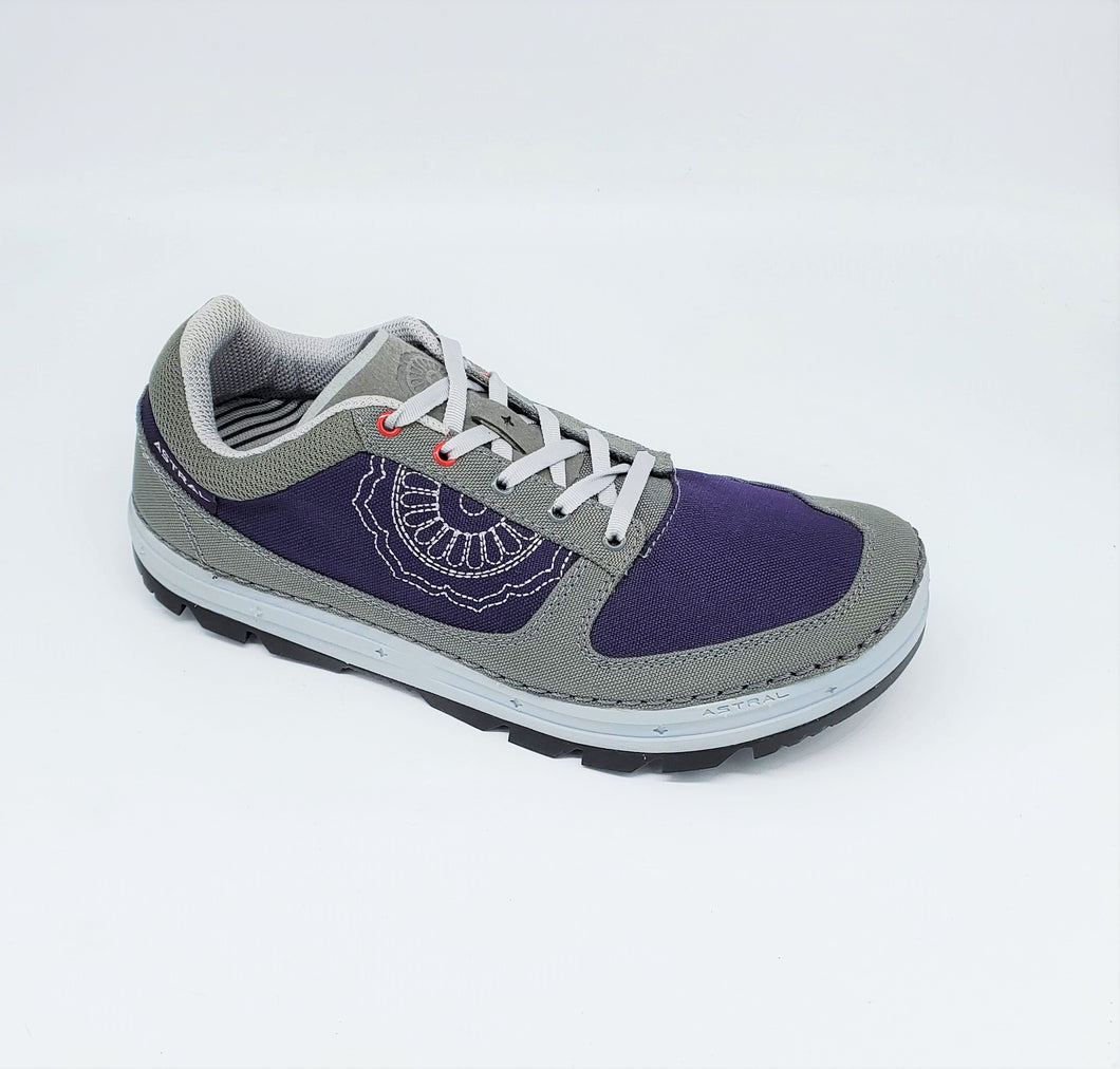 Astral Maria Ballet Flat Womens Casual Sneakers Hemp Grey Eggplant