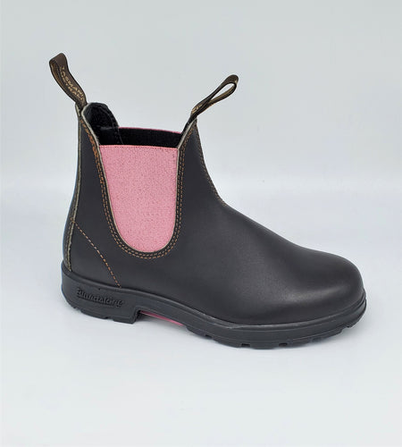 Blundstone 500 Series 1377 Stout Brown Pink Leather Chelsea Boots Australia