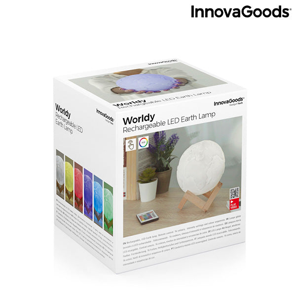 Lampe LED Rechargeable Planète Terre Worldy InnovaGoods