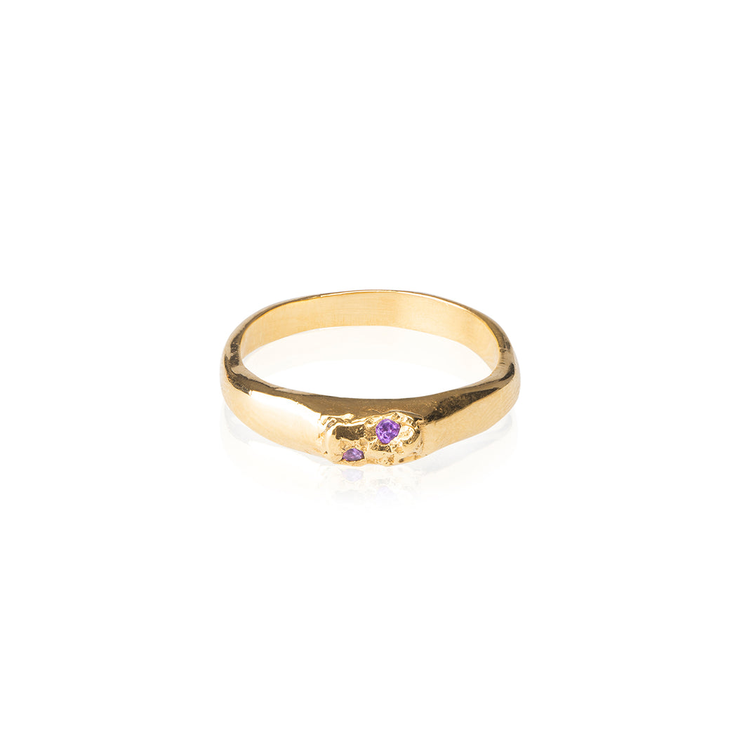 Kismet Lola Gold and Amethyst Ring
