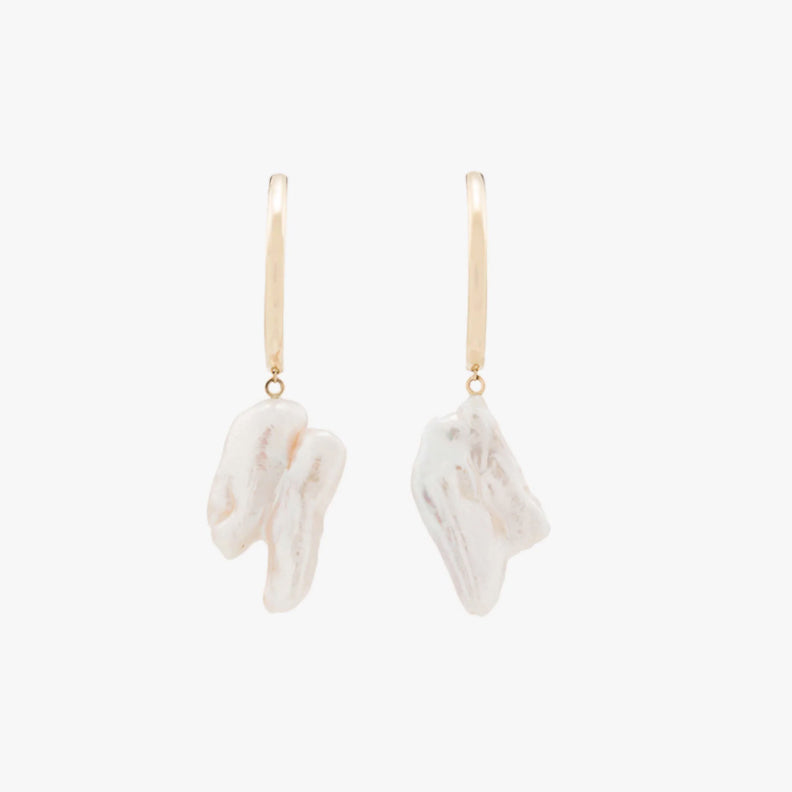 Loren Stewart Gold Pearl Drop Earrings