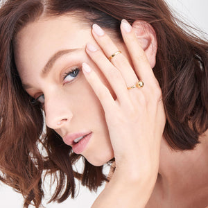 Ania Haie Gold Ball Detail Double Ring Set