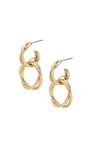 Image of 24 karat gold twisted wire earrings by Soko