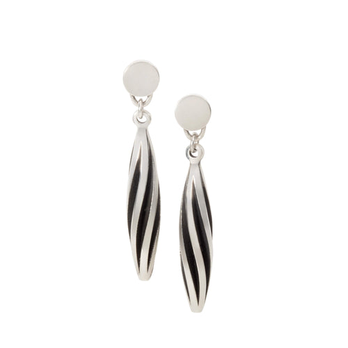 Sarah Herriot Silver Spiral Point Earrings