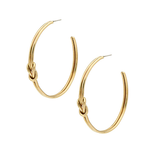 Soko Knot Detail Gold Hoop Earrings