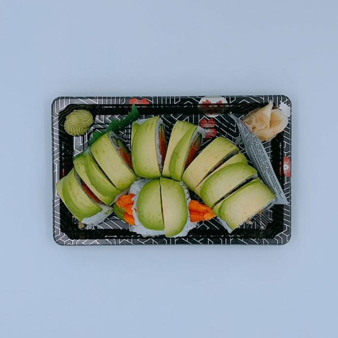 Gluten Free Green Dragon Roll - Vegetarian