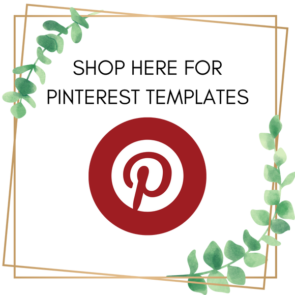 Shop here for Pinterest social media templates for Canva users