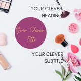 Social Media Templates for Instagram Beauty | Fashion | Lifestyle Blogger | Influencer - Why Not Mom