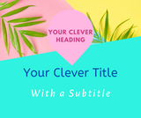 Canva Editable Templates for Facebook Posts- Lifestyle Blogger/ Influencer - Why Not Mom