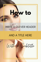 Pinterest Templates for Beauty | Fashion | Lifestyle Blogger | Influencer