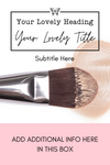Pinterest Templates for Beauty | Fashion | Lifestyle Blogger | Influencer - Why Not Mom