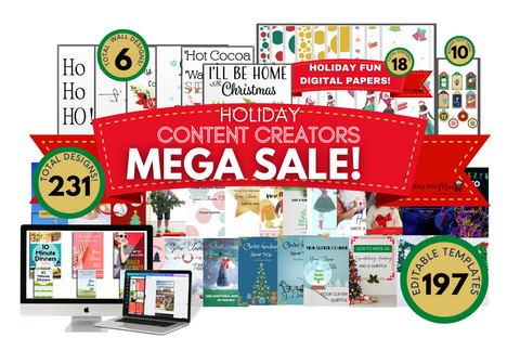 Holiday Content Creators MEGA Bundle Sale! 🎄 - Why Not Mom
