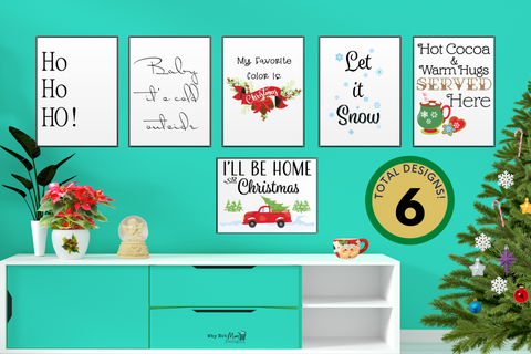 Christmas Holiday Wall Art Decor 🎄 - Why Not Mom