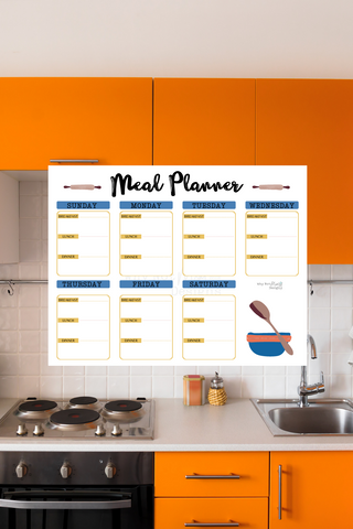 7 Day Meal Planner -Kitchen Art Theme - Why Not Mom