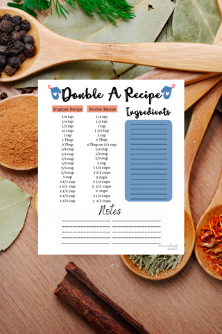 Double a Recipe - Kitchen Art Theme - Why Not Mom