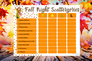 Fall Night Scattergories - Why Not Mom