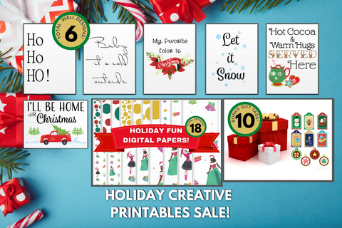 Holiday Creative Printables Bundle Sale 🎄 - Why Not Mom