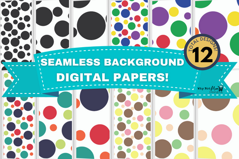 Seamless Background Papers Circle Shapes with Commercial Use License - Why Not Mom