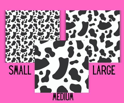 Seamless Background Papers Cow Print Shapes with Commercial Use License - Why Not Mom