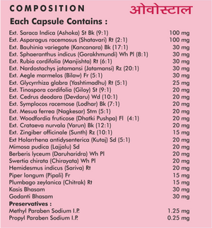 Ovostal Capsules - Female Health - Sushruta Ayurvedic Therapy Center