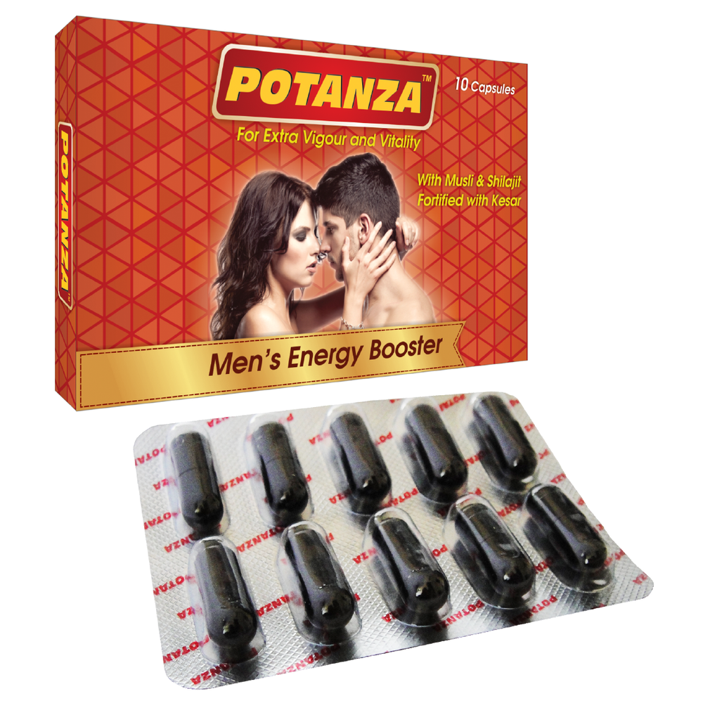 Potanza Capsules - Men's Energy Enhancer - Sushruta Ayurvedic Therapy Center