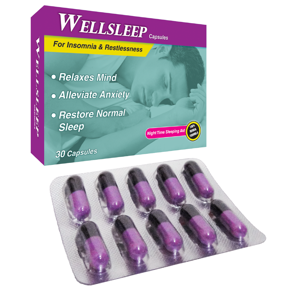 Wellsleep Capsules - Stress Relieving - Sushruta Ayurvedic Therapy Center
